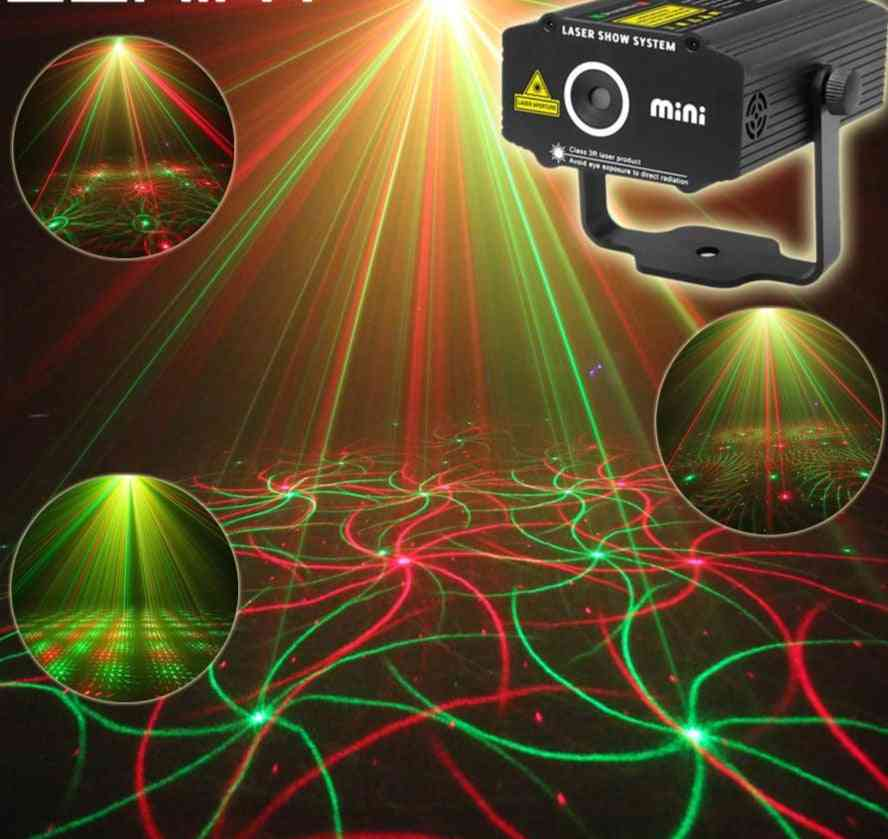 Mini Moving R&g Laser Projector-4 Patterns