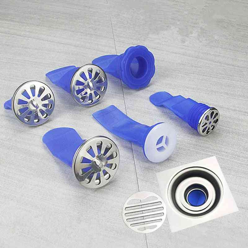 Round Sink Drain, Backflow Preventer From Silicone- Pipe Shower Sealing Ring