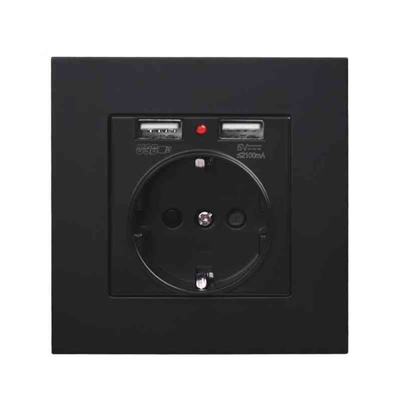 Wall Socket Outlet With 2.1a Dual Usb Charging