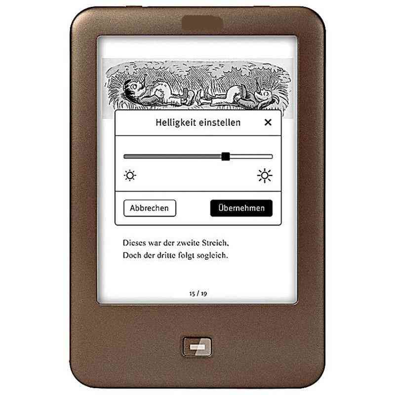 Ebook Reader, Light Electronic Book, 6 Inch 1024x758 Backlight 4gb