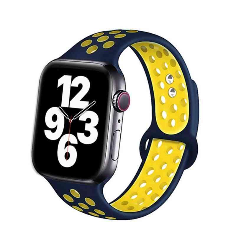 Silicone Strap For Apple Watch Band Accessories, Wrist Belt Bracelet Set-1
