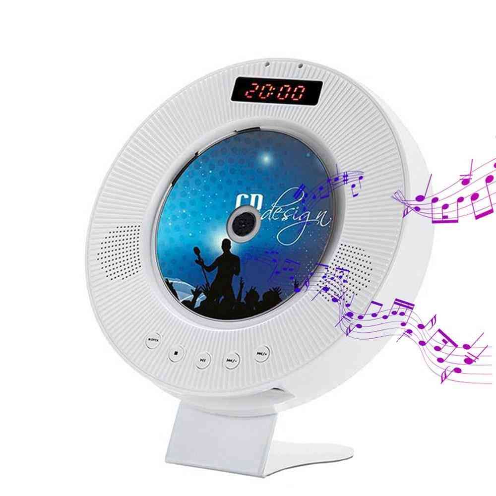 Wall Mounted Cd Player With Led Display-bluetooth Usb Mp3 Disk
