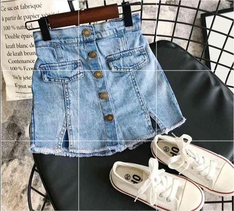 Denim Skirt Modis Button Jeans, Culottes Short For