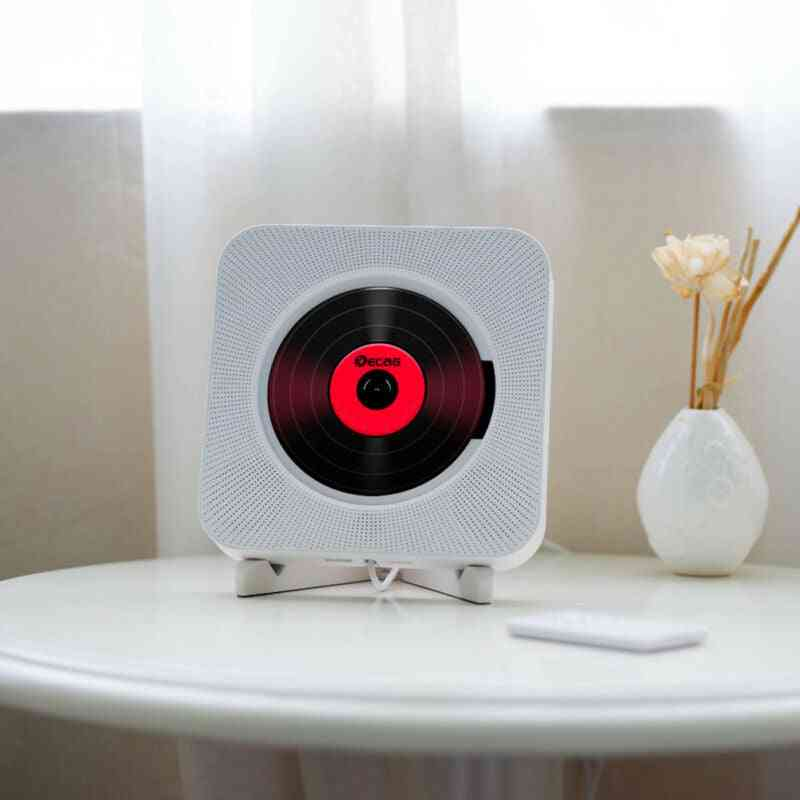 Wall Mounted Bluetooth Cd Player With Remote Control