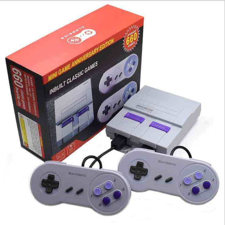 8 Bit Retro Mini Video Game Console With Power Adapters And Av Cable