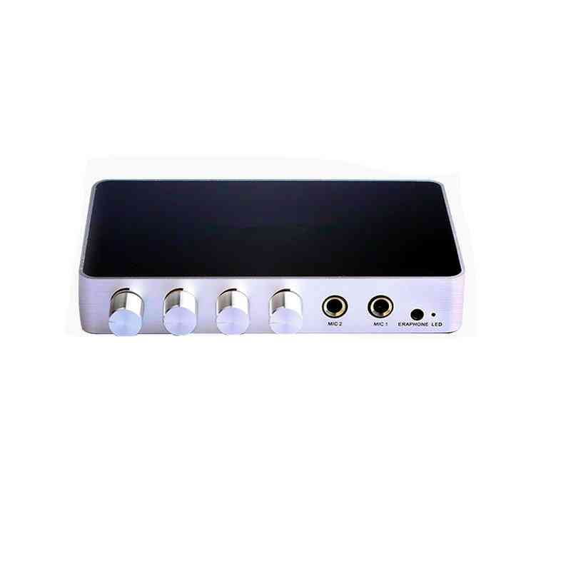 Portable Digital Hdmi Mixer Amplifier With 2mics Works, 4k/2k Tv/pc Theater
