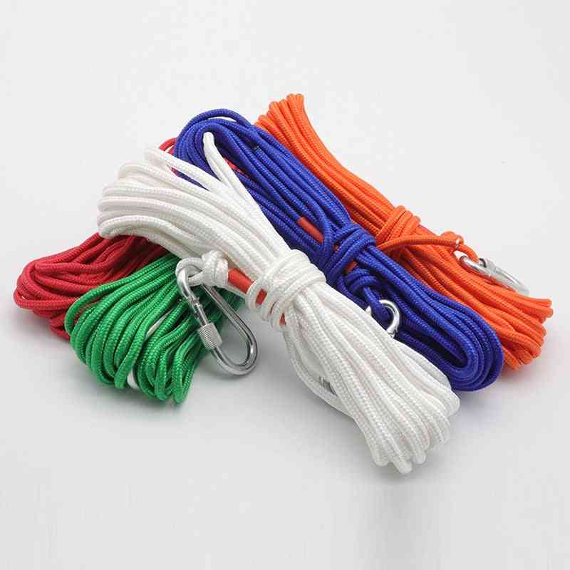 10m/20m Escape Rope Outdoor Climbing Safety Rescue Rivers Salvage Ropes With Carabiner
