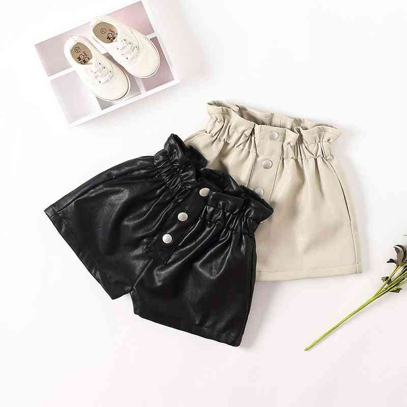 Pu Leather Shorts For Kid And