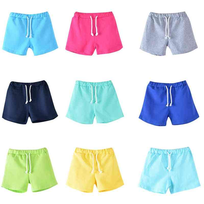 Cotton Kids Shorts, Summer Boy And Girl ,candy Color Beach Pants And Trousers