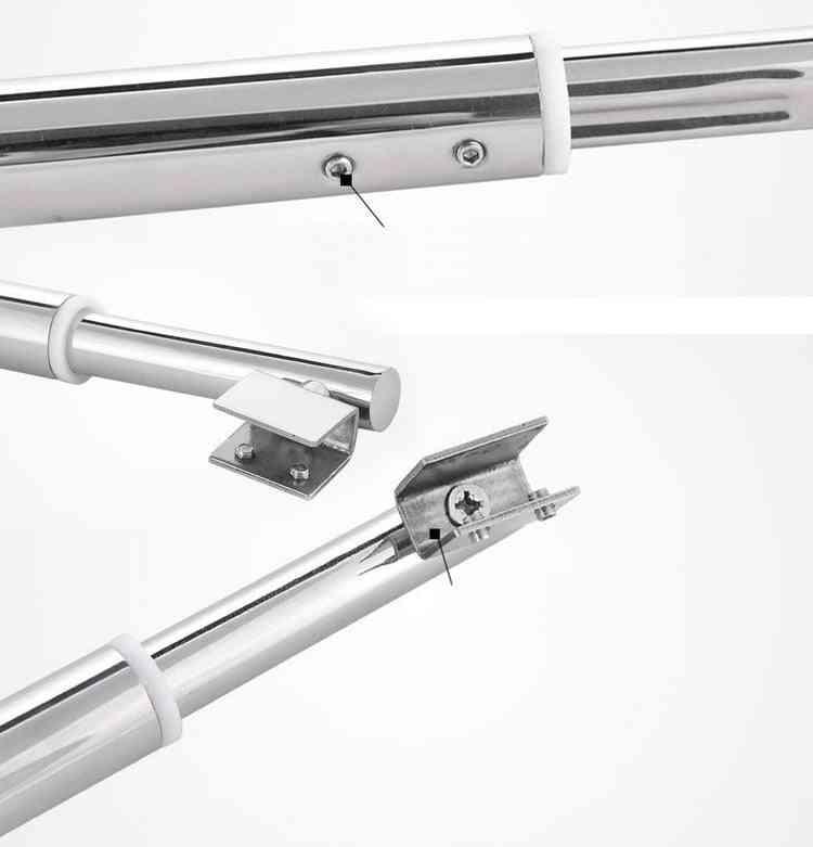 Stainless Steel Shower Glass Door Fixed Rod/clip