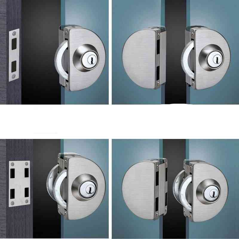 Stainless Steel Entry Gate Glass Door Lock, Swing And Sliding Key