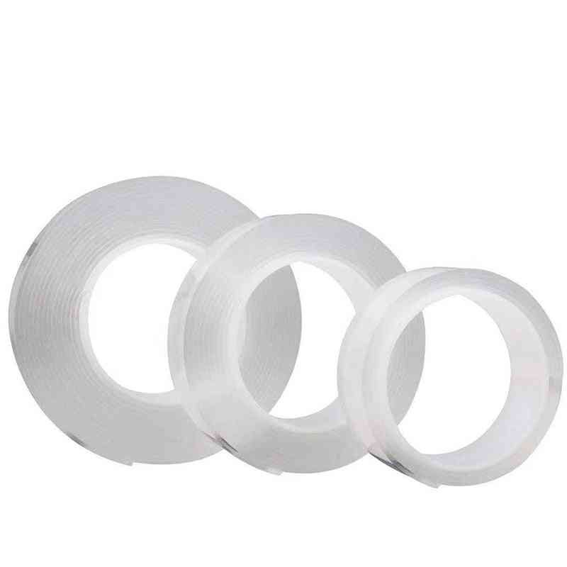 1 Roll Reusable Transparent Double Sided Can Washed Acrylic Fixing Tape