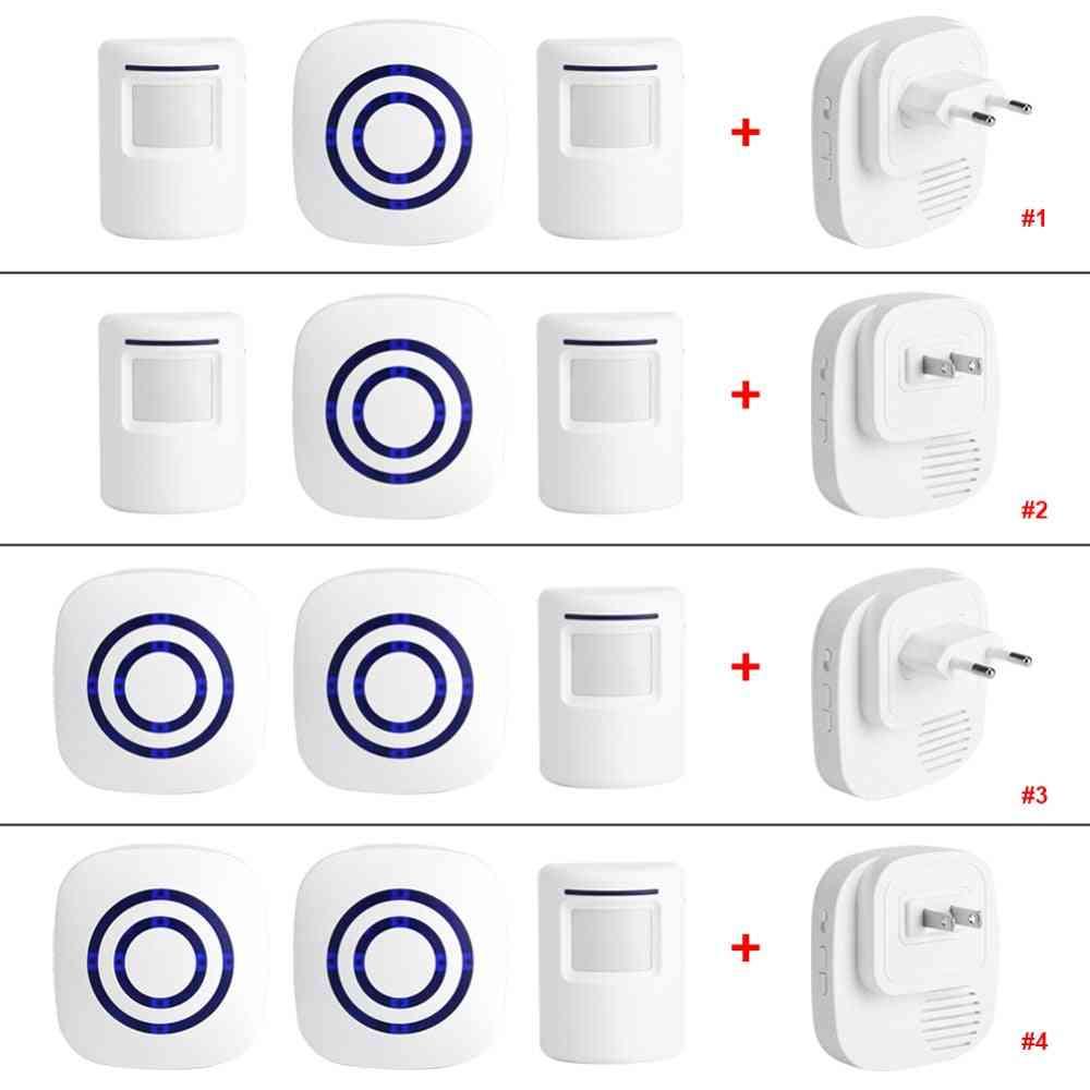 110v-240v Wireless Doorbell Pir Infrared Sensor Motion Detector Entry Door Bell Alarm
