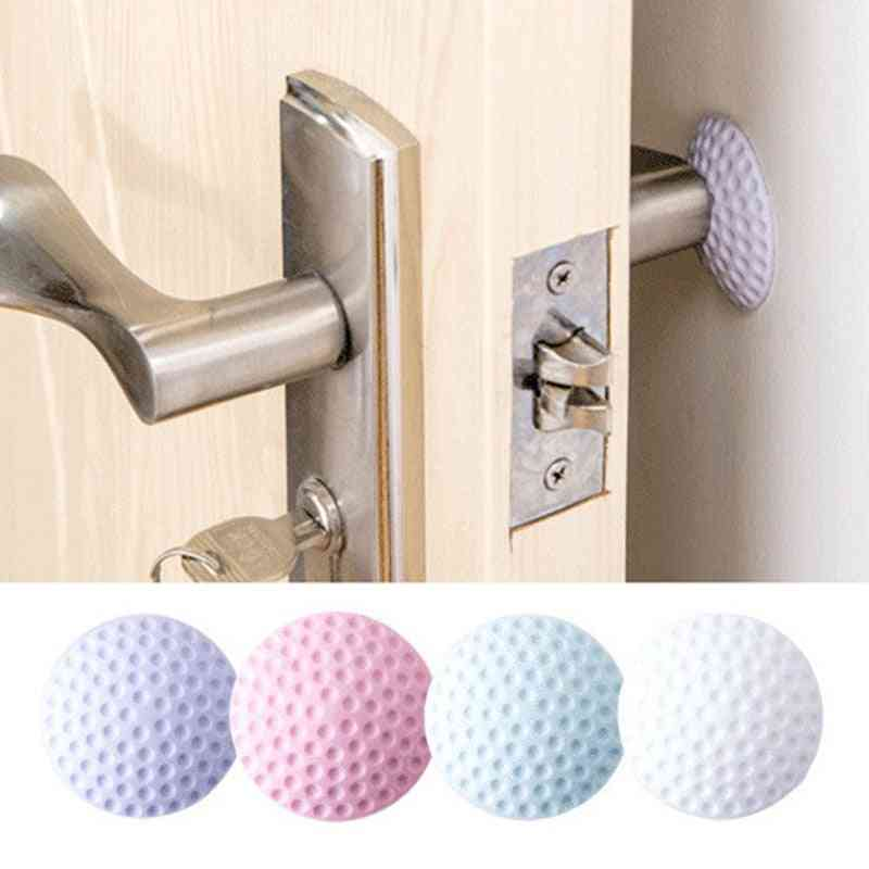 Rubber Door Wall Protector Stopper, Doorknob, Protective Shock Rails Mat, Crash Pad