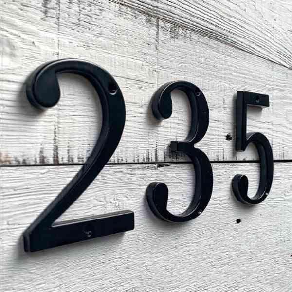 Modern House Door Address- Number Digits