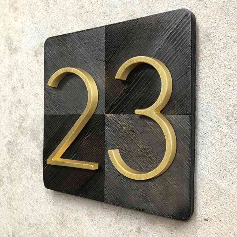 Golden Floating Modern House-home Address Numbers