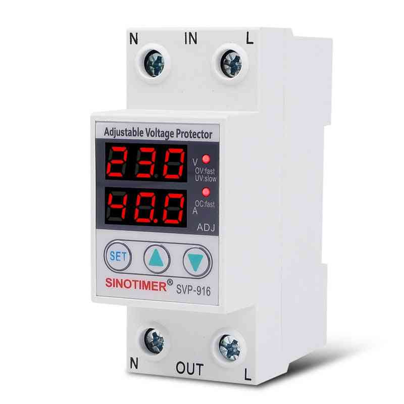 Voltage Relay Control Protector Devices Din Rail