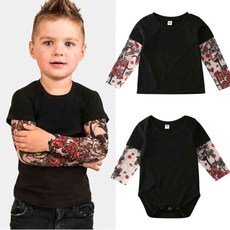 Baby Tattoo Sleeve Shirt Clothes Set, Bodysuit/t-shirts Brothers Matching Outfit