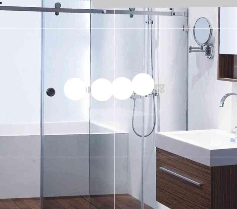 Frameless Shower Sliding Door Whole Set Hardware, 304 Stainless Steel