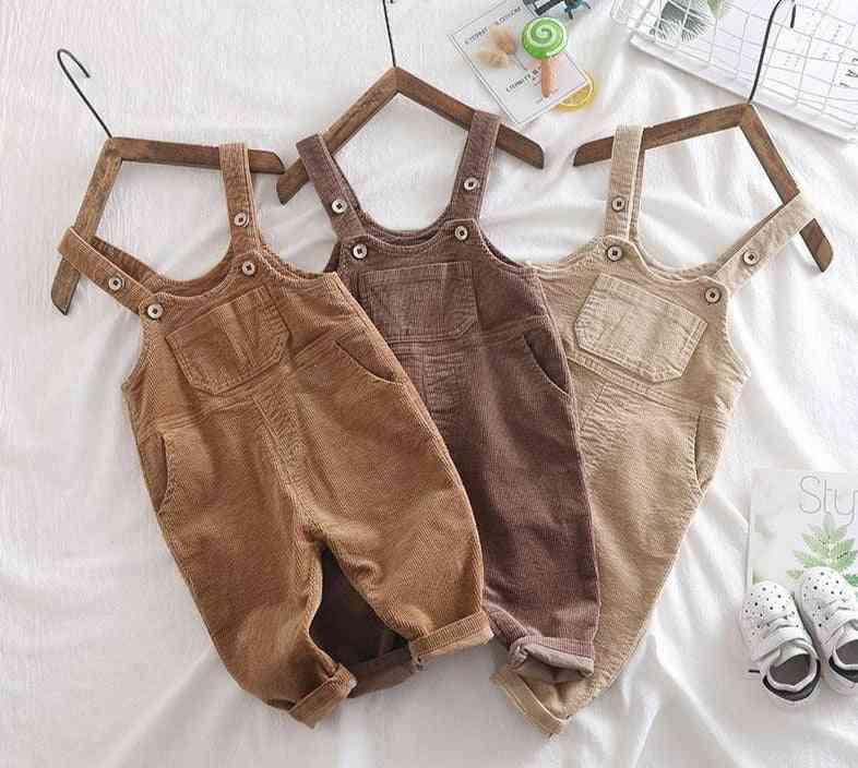 Kids Pants, Overalls Corduroy Jumpsuits, Romper Pants