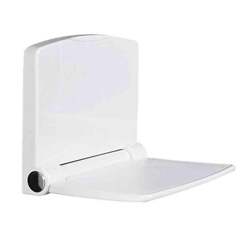 200kg Bearing Folding Bathroom Stool Wall Mounted Toilet Seat- Household Shower