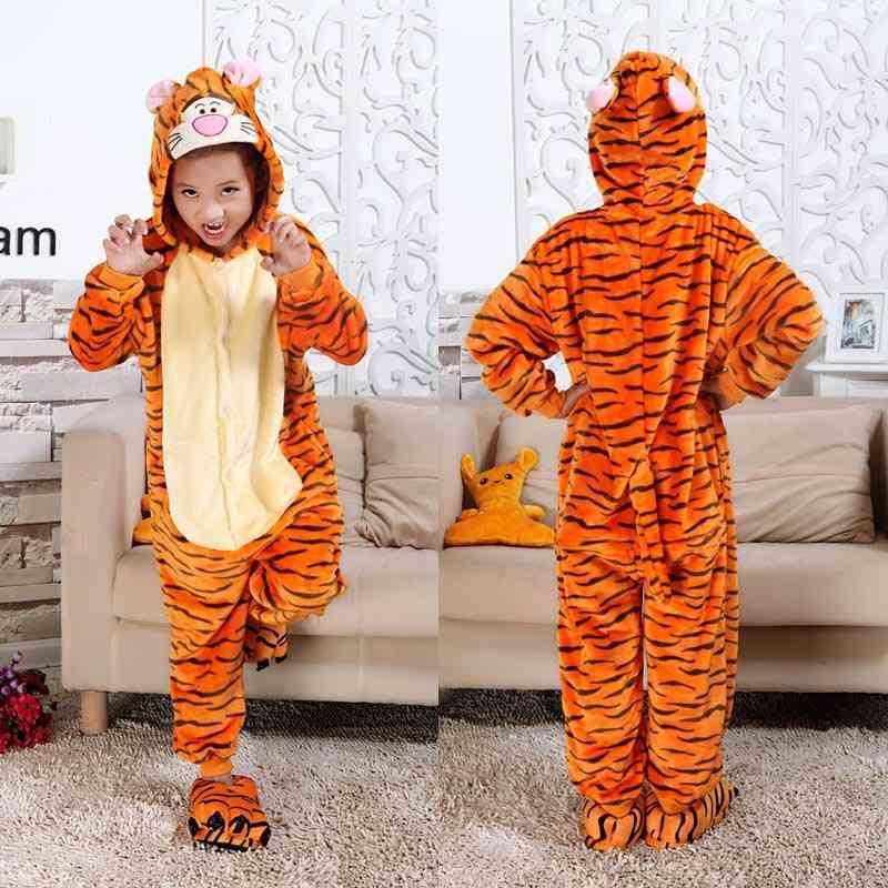 Animal Cartoon Design, Soft Warm Hooded Sleepwear Set
