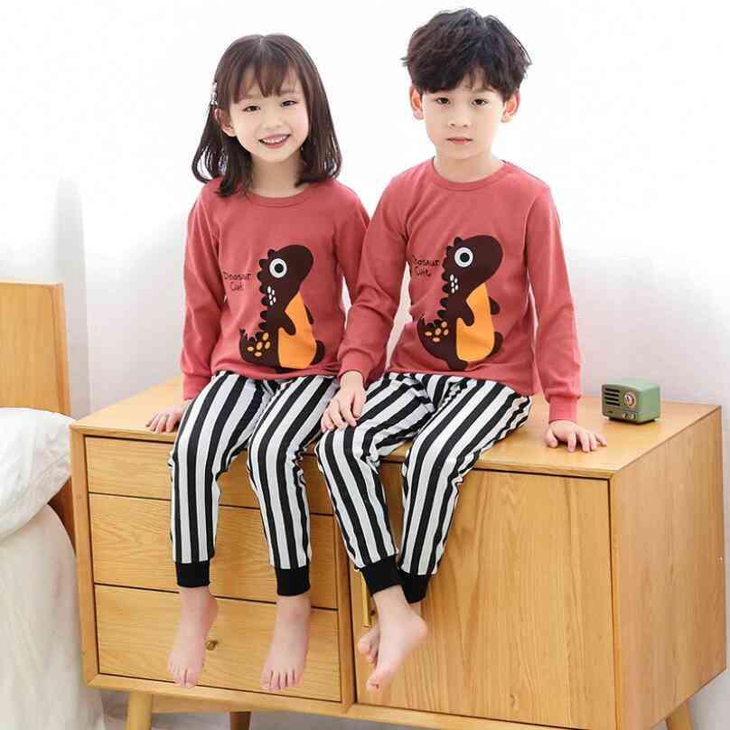 Boys & Girl Spring Cotton Pajamas, Nightwear Clothes Set