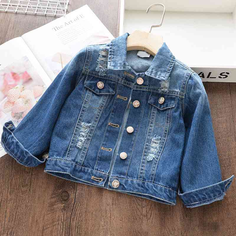 Denim Coats, Spring Jackets Clothes, Cartoon Printed For Kids