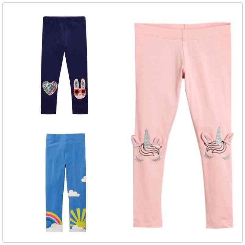 Skinny Print Cat Pattern Leggings, Cotton Trousers / Pants