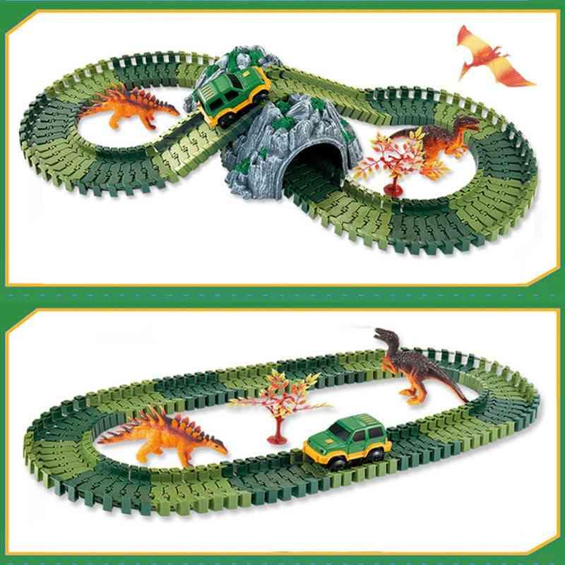Simulation Jungle Dinosaur Track Theme, Park Animal Figures Sets