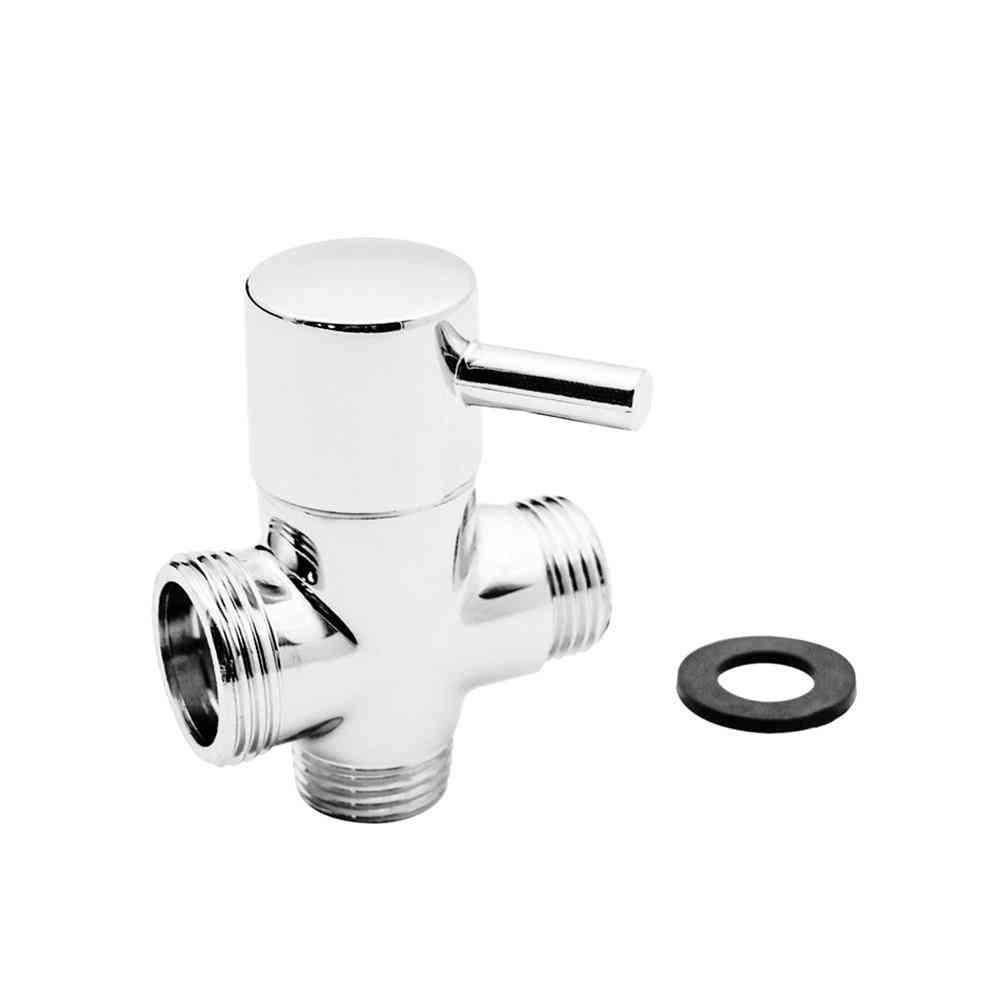 3 Way Brass Switch Adapter, Shower Mixer Diverter T Connector