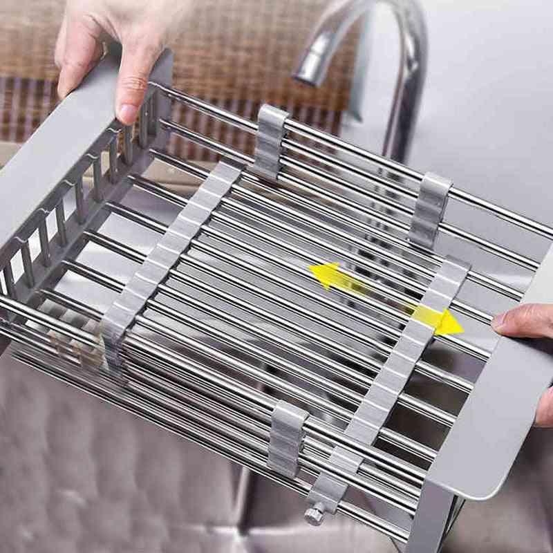 Washbasin Dish Basket Retractable Filter -sink Protector
