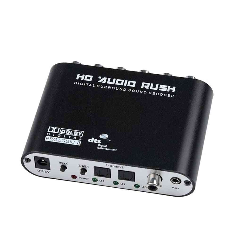 Digital Audio Decoder With Dc 5v Power Adapter And Optical Cable
