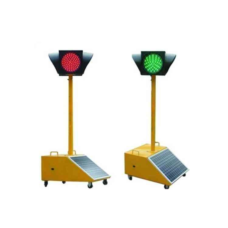 Mobile Temporary Solar Traffic Lights-four-sided With Single Pole