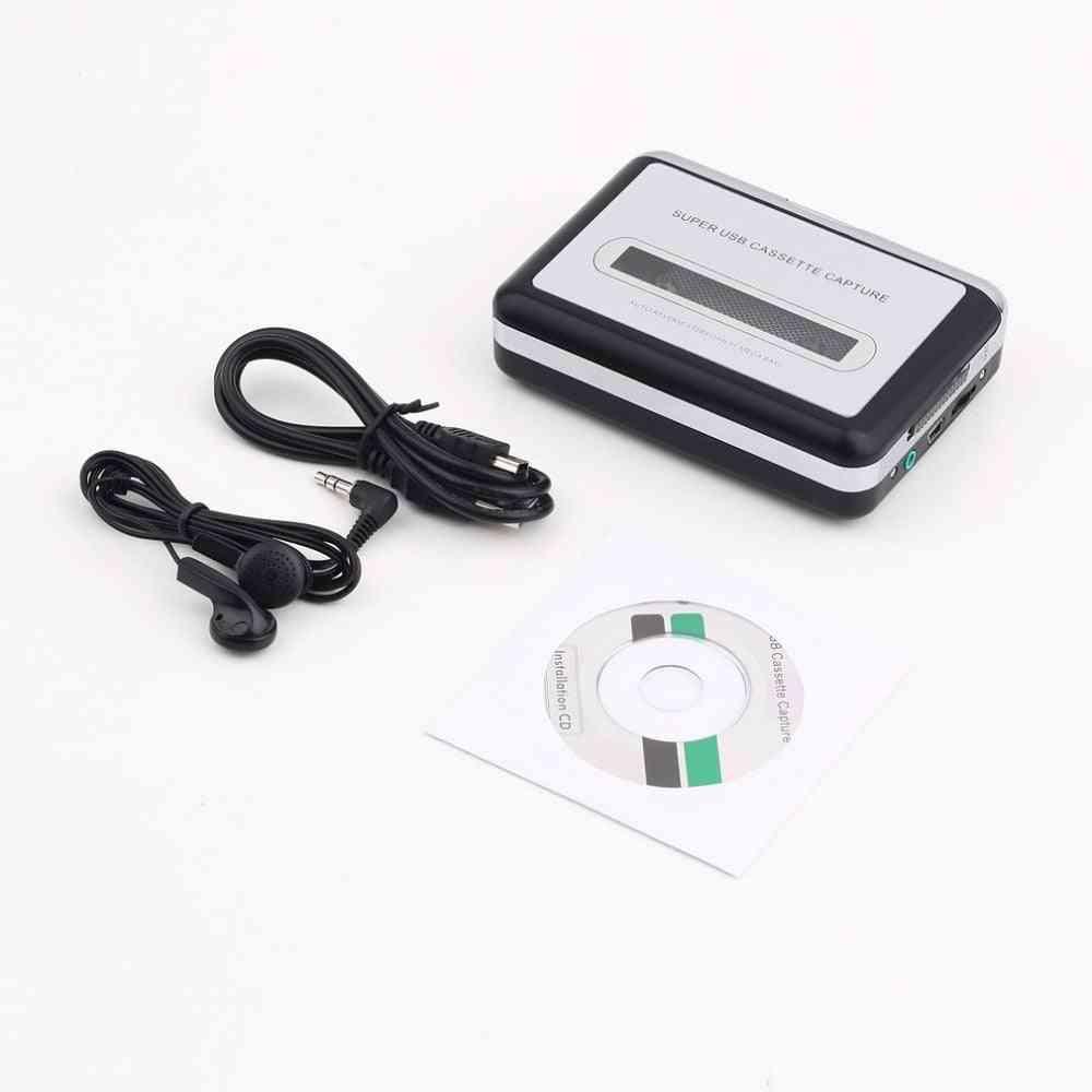 Cassette Record Player Portable, Usb Capture Recorder Converter, Digital Audio