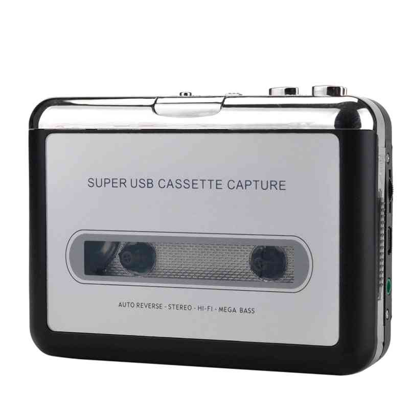 Usb Cassette Player Tape To Pc Mp3 Format Converter, Audio Recorder Capture Walkman With Auto Reverse