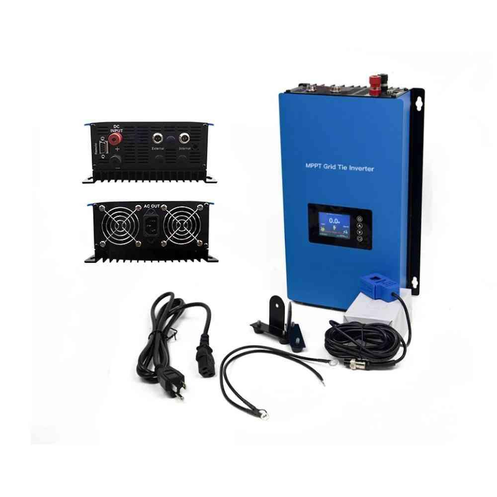 1000w Solar Inverter Grid Tie, Micro Inversor Battery Discharge Power Mode With Internal Limiter Sensor