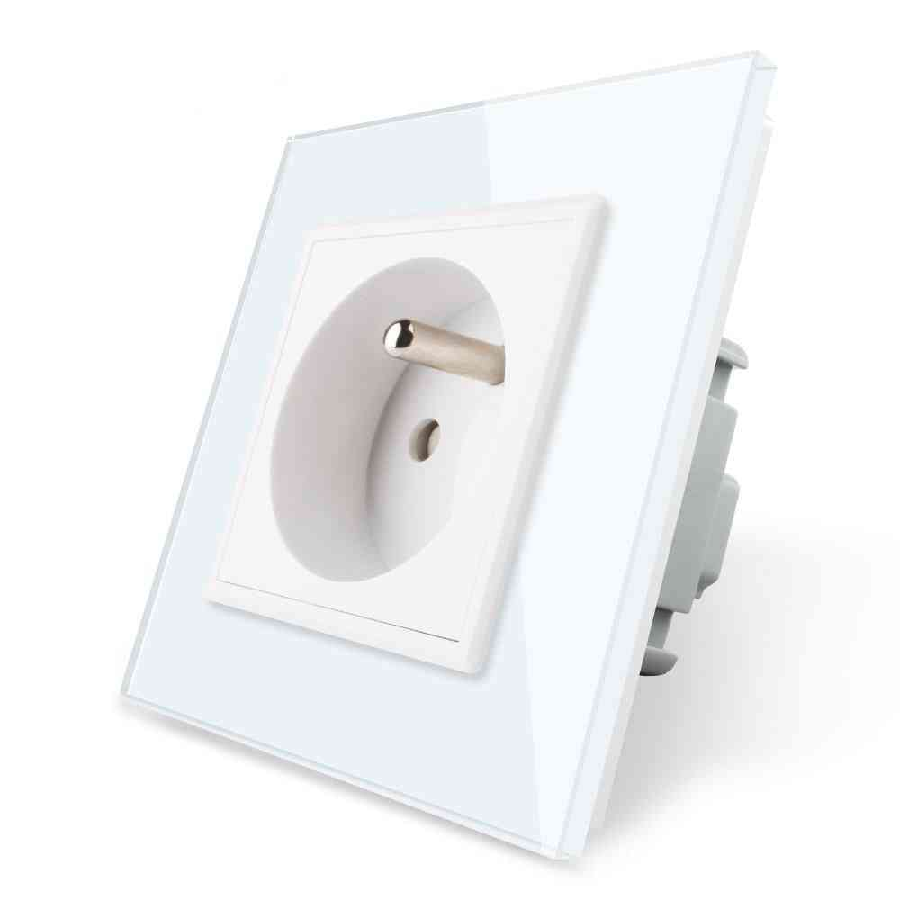 Wall Embedded Power Socket Outlet-crystal Glass Panel