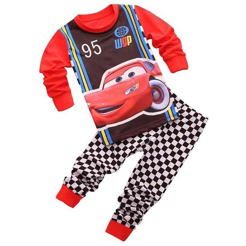 Cartoon Print Nightwear Pajamas, Baby Sleepwear Clothes