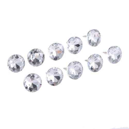 14/16/18/22mm Diamond Crystal Nails, Buttons Tacks Studs Pins For Sofa Wall Decoration Accessory