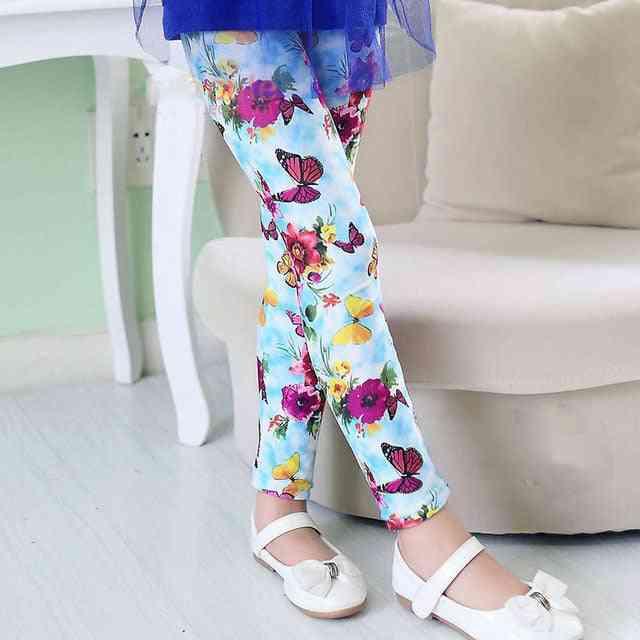 Flower Print Leggings, Pencil Pants For (set-2)