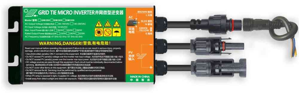 Mppt Solar Grid Tie Micro Inverter-waterproof