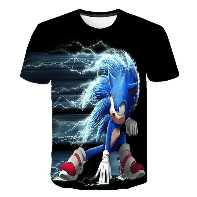 Short Sleeve, 3d Cartoon Printed - T Shirt For (set-1)