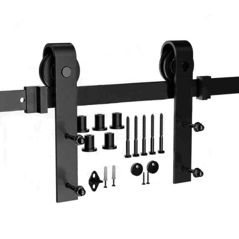 Sliding Door Barn Track, Hardware Wood Rail Kit System
