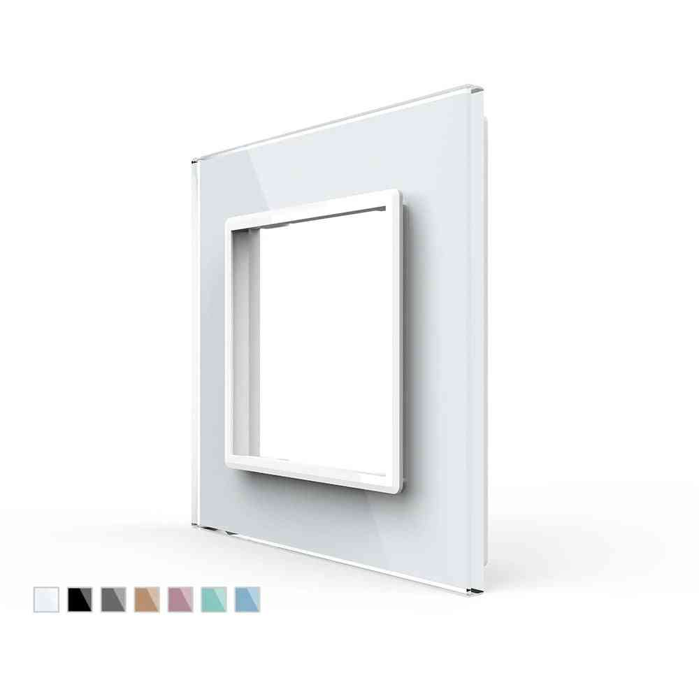Eu Standard Single Glass Panel For Wall Switch Socket