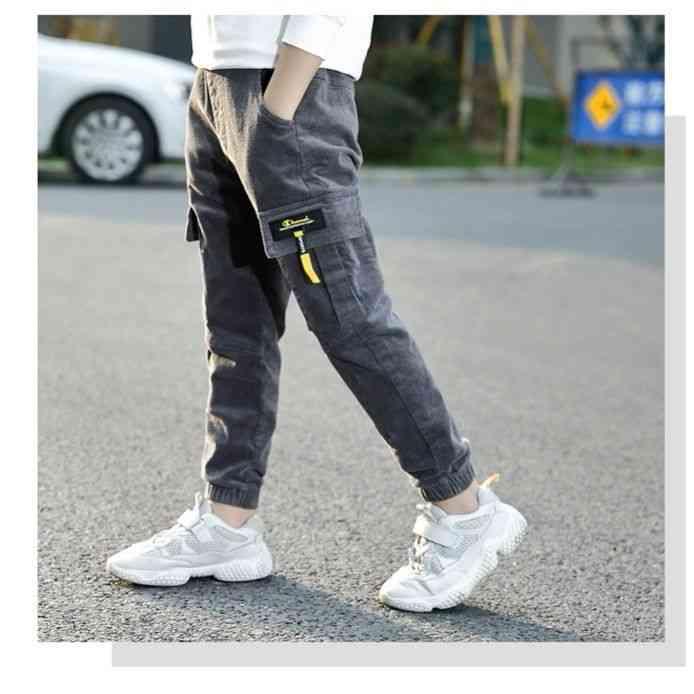 Boys' Corduroy Pants With Pockets-autumn/winter Cloths