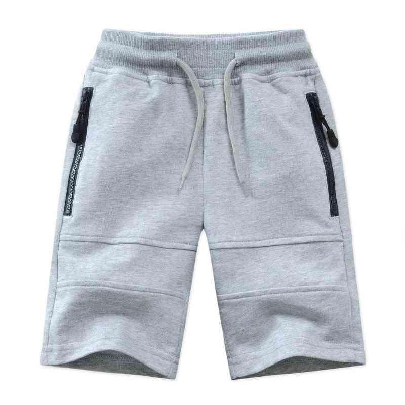 Children Shorts- Zipper Pocket Design Kids Casual Knitted Clothes