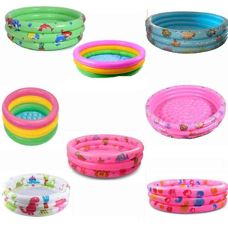 Rainbow Baby Inflatable Round Swimming Pool - Pvc Float  Accessories