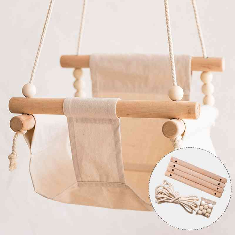 Baby Safety Swing Chair, Hanging Rocking Canvas Seat