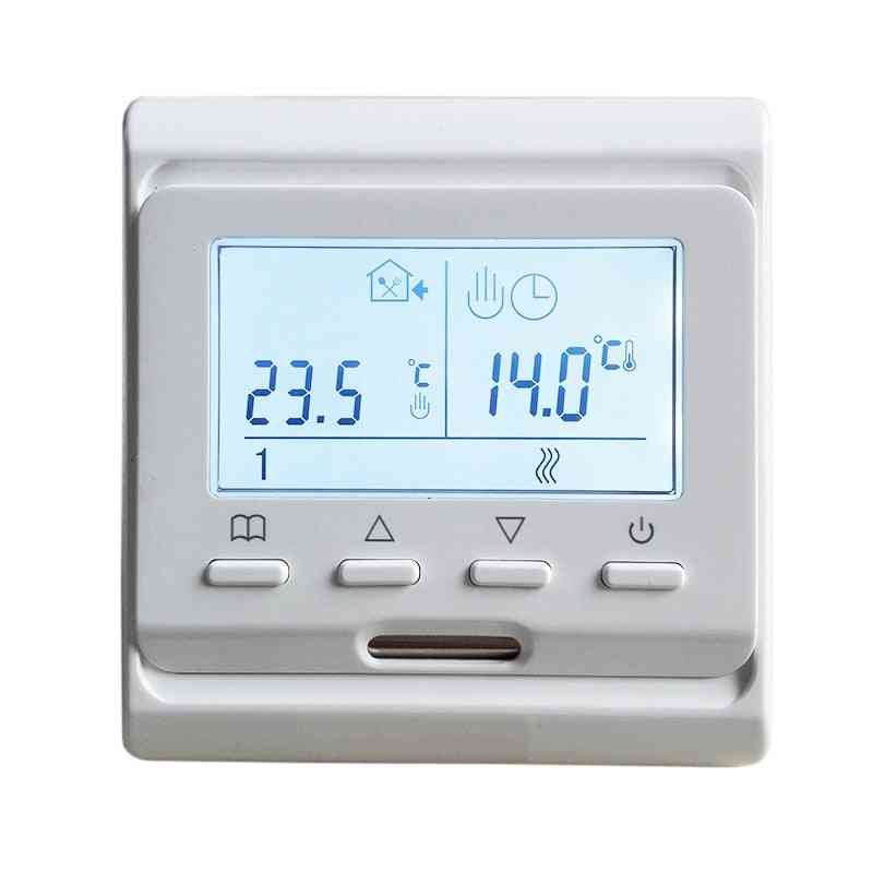 220v Lcd Screen Programmable Temperature Controller, Electric Underfloor Room Heating Thermostat (e51.716)